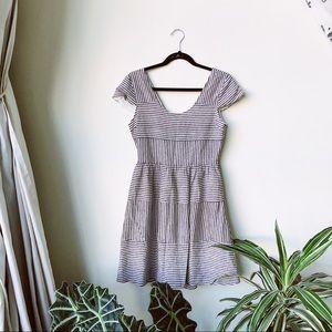 Sunday in Brooklyn linen striped dress